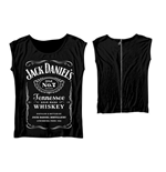 Jack DANIEL'S: Back Zipper (T-SHIRT Donna )