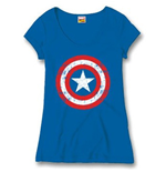 MARVEL: Captain AMERICA: Cracked Shield (T-SHIRT Donna )