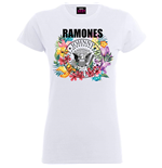 RAMONES: Circle Flowers (T-SHIRT Donna )