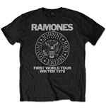 RAMONES: First World Tour 1978 Special Edition Black (T-SHIRT Unisex )