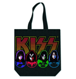 Kiss - Faces & Logo With Zip Top (Borsa Shopping)
