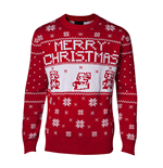 NINTENDO: Knitted X-MAS Red (maglione Unisex )