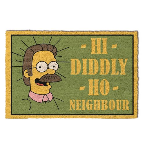 Simpsons (The) (Hi Diddly Ho Neighbour) Door Mat (Zerbino)