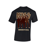 T-shirt Kiss DRESSED TO KILL