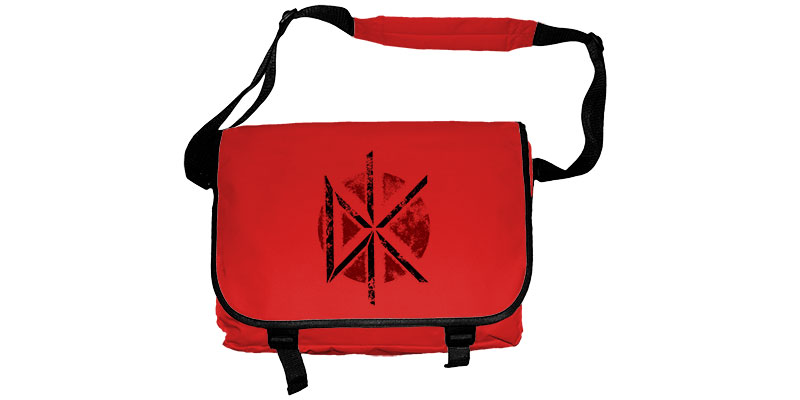 Borsa Tracolla Messenger Dead Kennedys DK DISTRESSED LOGO