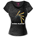 Pink FLOYD: Acid Wash MULTI-LOGO Black Grey (T-SHIRT Donna )