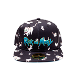 Rick And Morty: Cats Aop Snapback Black (Cappellino)