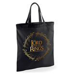 Borsa Lord Of The Rings - Design: Gold Foil Logo Tote Bag