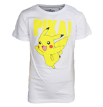 Pokemon: Kids White Pikachu (T-Shirt Bambino cm)