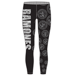 RAMONES: Presidential Seal Black (leggings  / L)