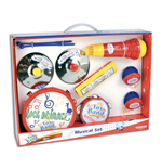 Bontempi 60 2931 - Toy Band Play - Kit Musicale Assortito Composto Da:1 Tamburo, 2 Nacchere,1 Tamburello,1 Microfono, 1 Armonica E 2 Piatti