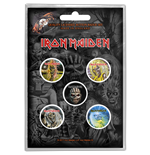 Iron Maiden - The Faces Of Eddie Button (Badge Pack)