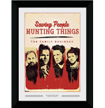 Supernatural - Saving People (30Mm Black) (Stampa In Cornice 50x70 Cm)