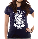 T-shirt Looney Tunes da donna - Design: Football Or Me