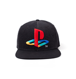 Playstation: Logo Denim Snapback Black (Cappellino)