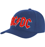 Ac/Dc: Baseball Red Logo (Mid Blue) (Cappellino)
