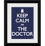 Doctor Who: Keep Calm (Stampa In Cornice 30x40cm)