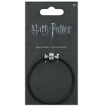 Harry Potter: Black Leather Charm Bracelet