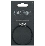 Harry Potter: Black Leather Charm Bracelet 20Cm (Braccialetto)