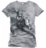 "T-Shirt Captain America ""Fight Position"""