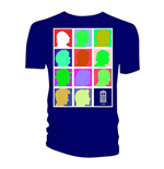 T-shirt Doctor Who da uomo - Design: Silhouette Grid Multi Blue