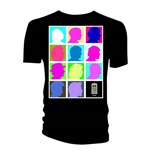 T-shirt Doctor Who da uomo - Design: Silhouette Grid Multi Black