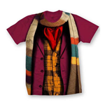T-shirt Doctor Who da donna - Design: 4 Doctors Band