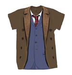 T-shirt Doctor Who da donna - Design: 10th Doctor Costume