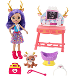 Mattel GBX04 - Enchantimals - Playset Bambola E Amici Cuccioli Veterinario