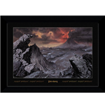 Lord Of The Rings - Mount Doom (30Mm Black) (Stampa In Cornice 50x70 Cm)