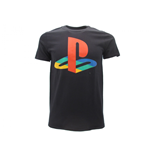 T Shirt Sony Playstation Logo colorato