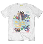 T-shirt The Beatles da uomo - Design: Yellow Submarine Vintage Movie Poster