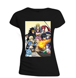 Fairy TAIL: All Characters Black (T-SHIRT Donna )
