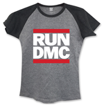 Run DMC: Logo Grey (T-SHIRT Donna )