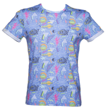 Teenage Mutant Ninja TURTLES: Sublimation Blue Print (T-SHIRT Unisex )