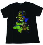 Teenage Mutant Ninja Turtles: Black All Characters (T-Shirt Bambino Tg. )