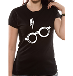 T-shirt Harry Potter da donna - Design: Glasses Fitted