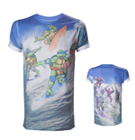 Teenage Mutant Ninja TURTLES: Allover Surfing Turtles Sublimation (T-SHIRT Unisex )