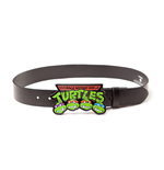 Teenage Mutant Ninja TURTLES: Logo Buckle With Black Strap (cintura )
