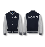 PLAYSTATION: Buttons NAVY/GREY Melange (giacca College )