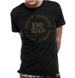 T-shirt Lord Of The Rings - Design: Gold Metallic Logo