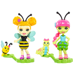 Mattel FXM88 - Enchantimals - Piccole Amiche Petal Park 2-Pack Cay Caterpillar
