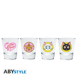 "Sailor Moon - Shot Glass ""Emblem"" X2"