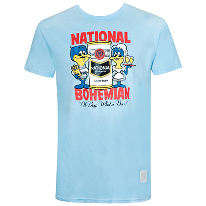 T-shirt National Bohemian da uomo