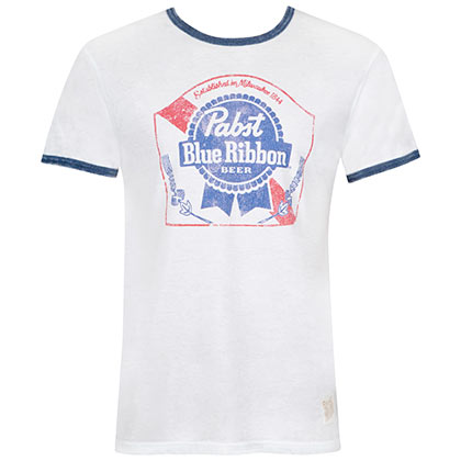 T-shirt Pabst Blue Ribbon da uomo