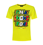 T-shirt uomo logo THE DOCTOR gialla VR46