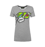 T-shirt donna logo 46 POP ART grigia VR46