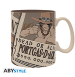 One Piece - Mug - 460 Ml - Wanted Ace - Porcl. With Box