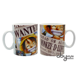 One Piece - Mug - 460 Ml - Luffy Wanted -  Porcl. With Box