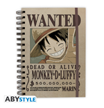 "One Piece -  Notebook ""Wanted Luffy"" X4"